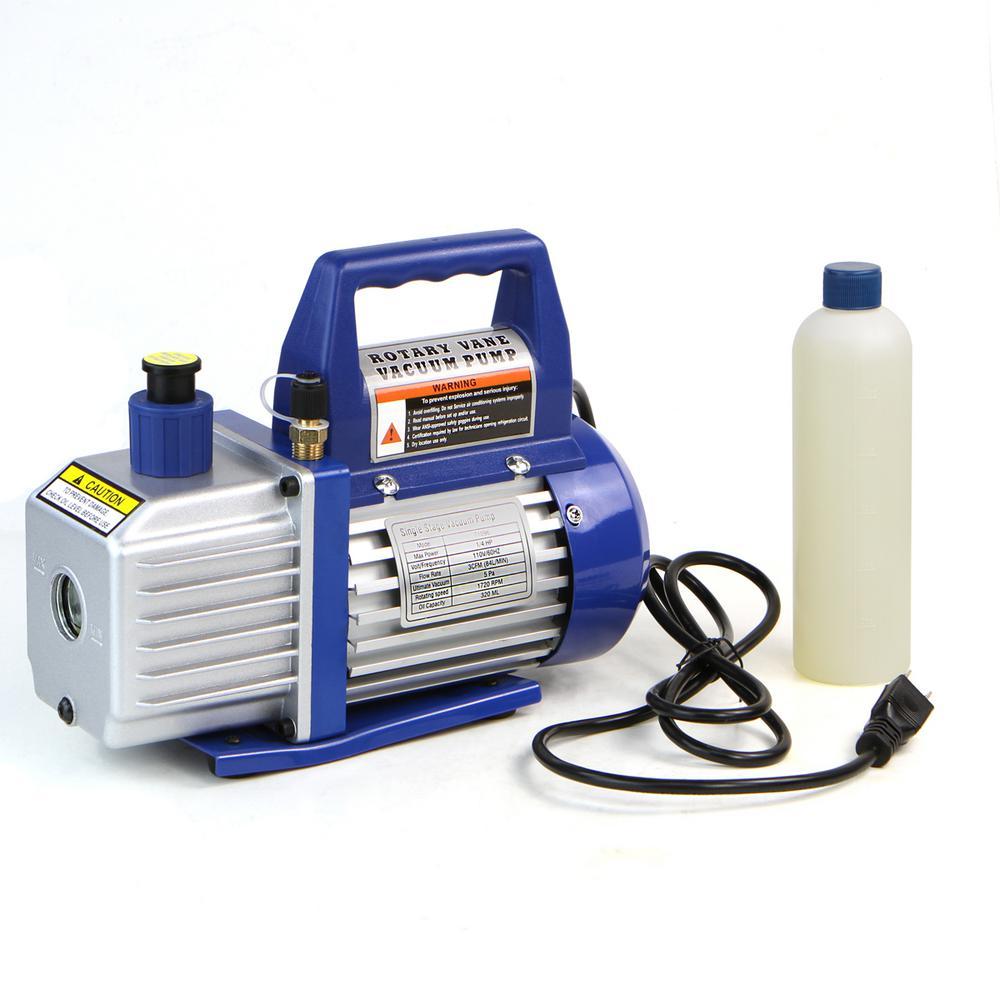 1/4 HP 3 CFM Rotary Air Vacuum Pump HVAC A/C Refrigerant
