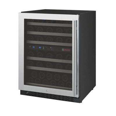FlexCount Series 56-Bottle Dual Zone Wine Refrigerator with Left Hinge
