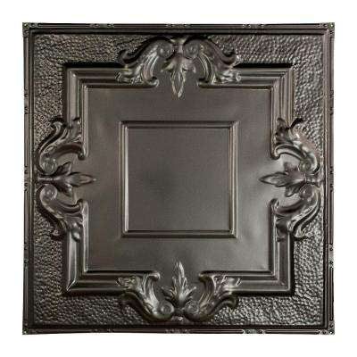 Niagara 2 ft. x 2 ft. Nail-up Tin Ceiling Tile in Argento