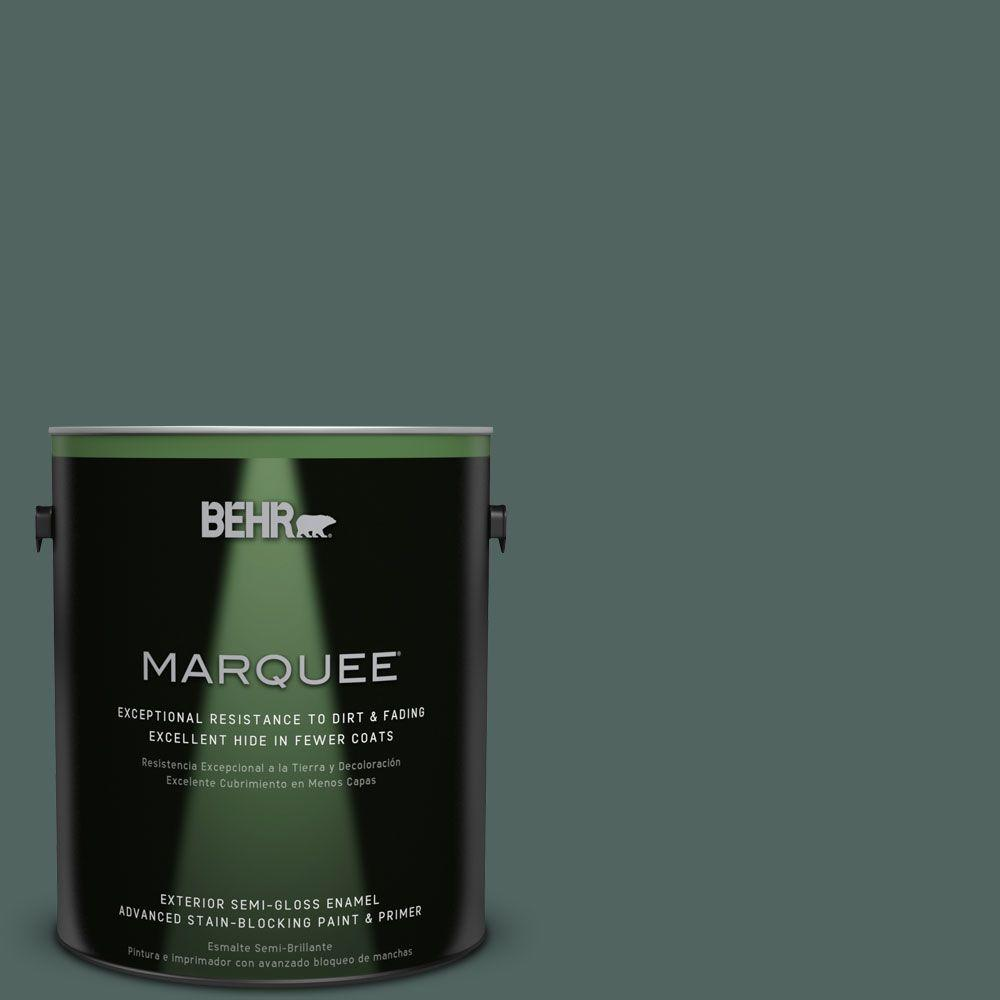 1-gal. #S430-7 Blue Fir Semi-Gloss Enamel Exterior Paint