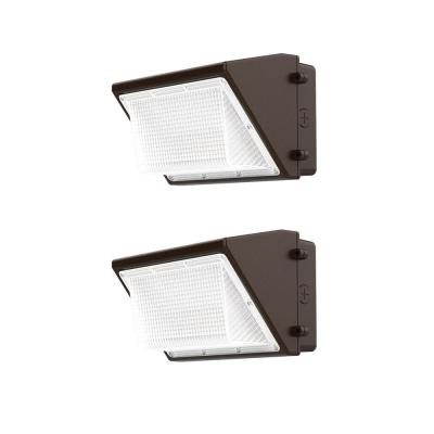 200-Watt Equivalent Integrated Outdoor LED Wall Pack, 3300 Lumens, Outdoor Security Lighting (2-Pack)