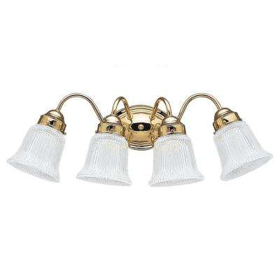 Brookchester 4-Light Polished Brass Vanity Fixture