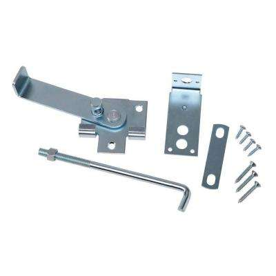 Zinc-Plated Jamb Latch with 7 in. Hook