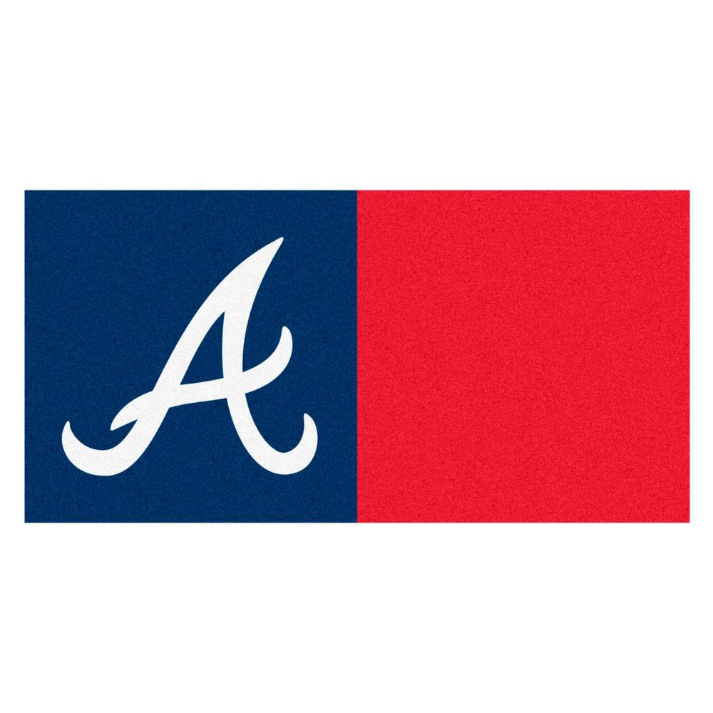 FANMATS MLB - Atlanta Braves Navy Blue and Red Nylon 18 in. x 18 in ...