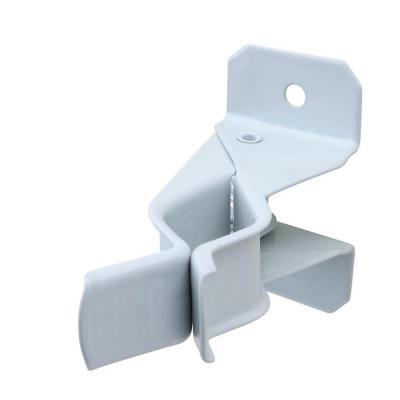 7/8 in. White Steel Spring Grip Wall Mounted Hooks (2-Pack) 5 lbs