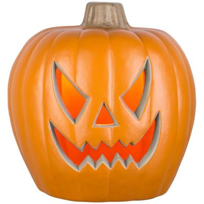 20 in. Orange Lighted Blow Mold Jack-O-Lantern Spooky Face