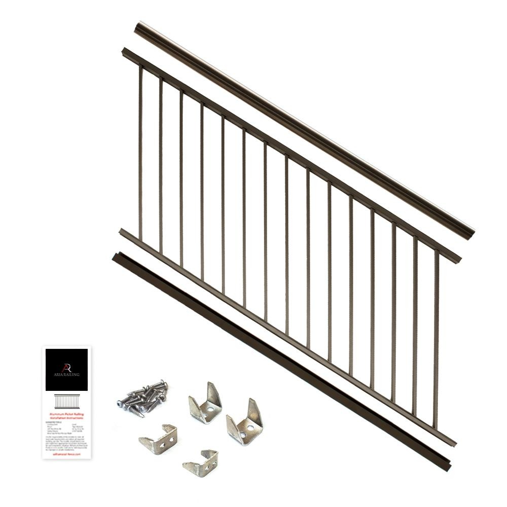 36 in. x 6 ft. Bronze Powder Coated Aluminum Preassembled Deck
