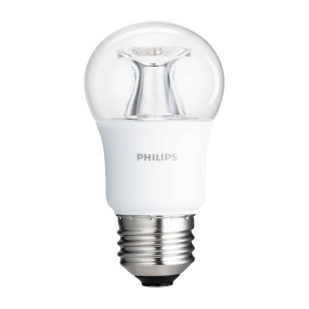 Philips 40-Watt Equivalent A15 Dimmable LED Light Bulb Soft White Clear Multipurpose Energy Star with Warm Glow Light