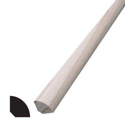 WM 108 1/2 in. x 1/2 in. x 96 in. Hemlock Quarter Round Moulding