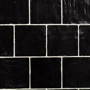 Ivy Hill Tile Amagansett Black 4 In X 4 In 9mm Satin