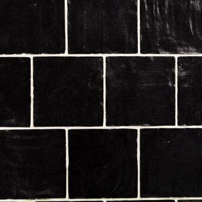 Amagansett Black 4 In X 9mm Satin Ceramic Wall Tile 5 38