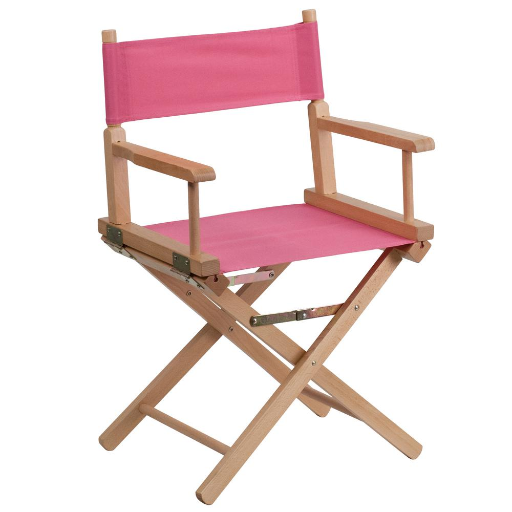 Charmant Flash Furniture Pink Standard Height Directors Chair TYD02PK   The Home  Depot