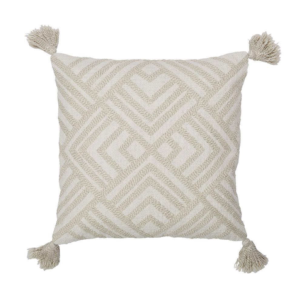Cstudio Home By The Company Store 20 In X 20 In White And Natural