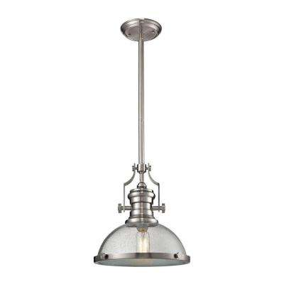 Chadwick 1-Light Satin Nickel Pendant