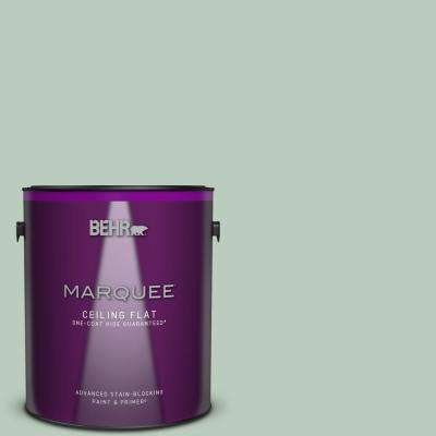 1 gal. #MQ3-49 Jade Tinge One-Coat Hide Ceiling Flat Interior Paint and Primer in One