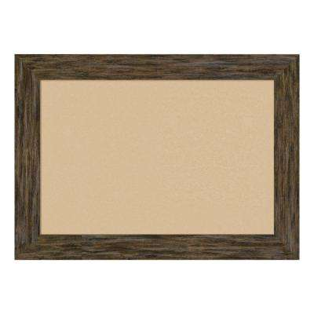 Fencepost Brown Framed Beige Cork Memo Board