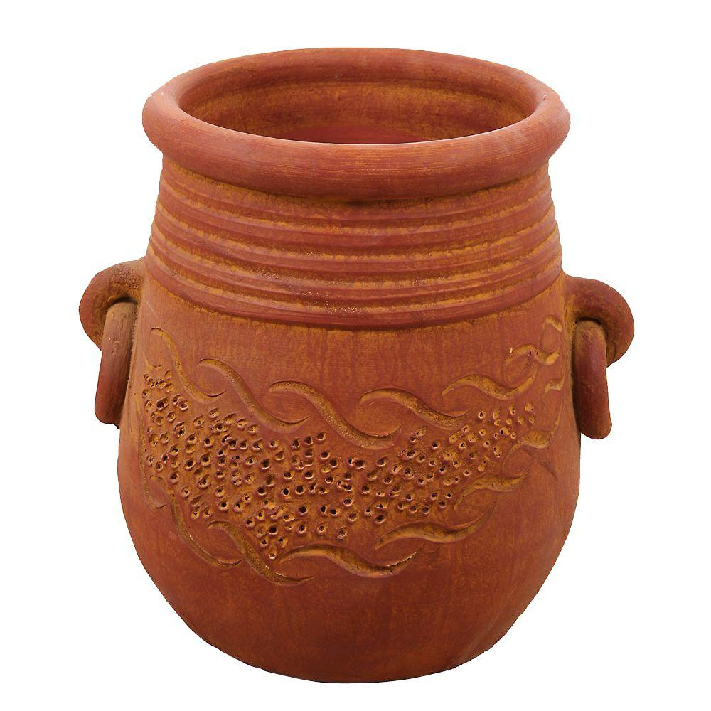 Margo garden products 15 in round terra cotta mao clay pot