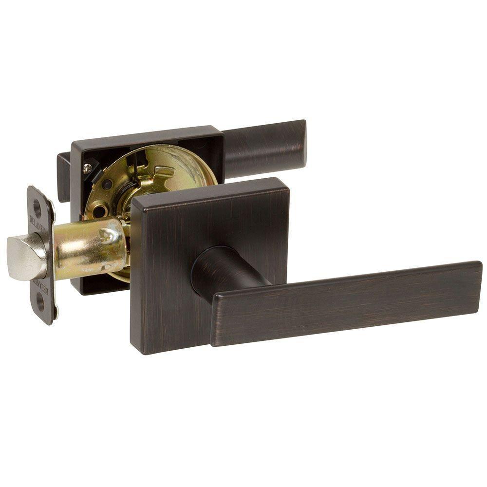 Kira Tuscany Bronze Bedroom and Bathroom Right-Hand Door Lever Door Lock