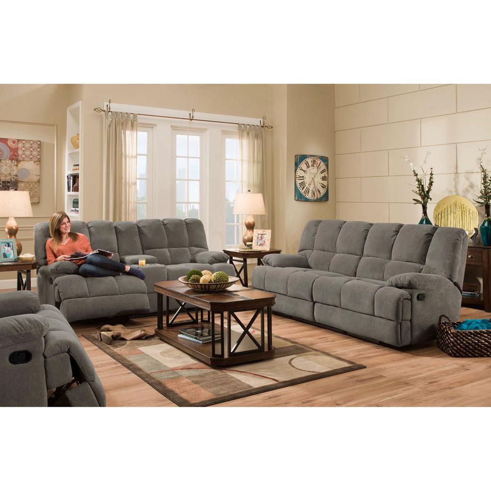 Penn Charcoal Double Reclining Sofa