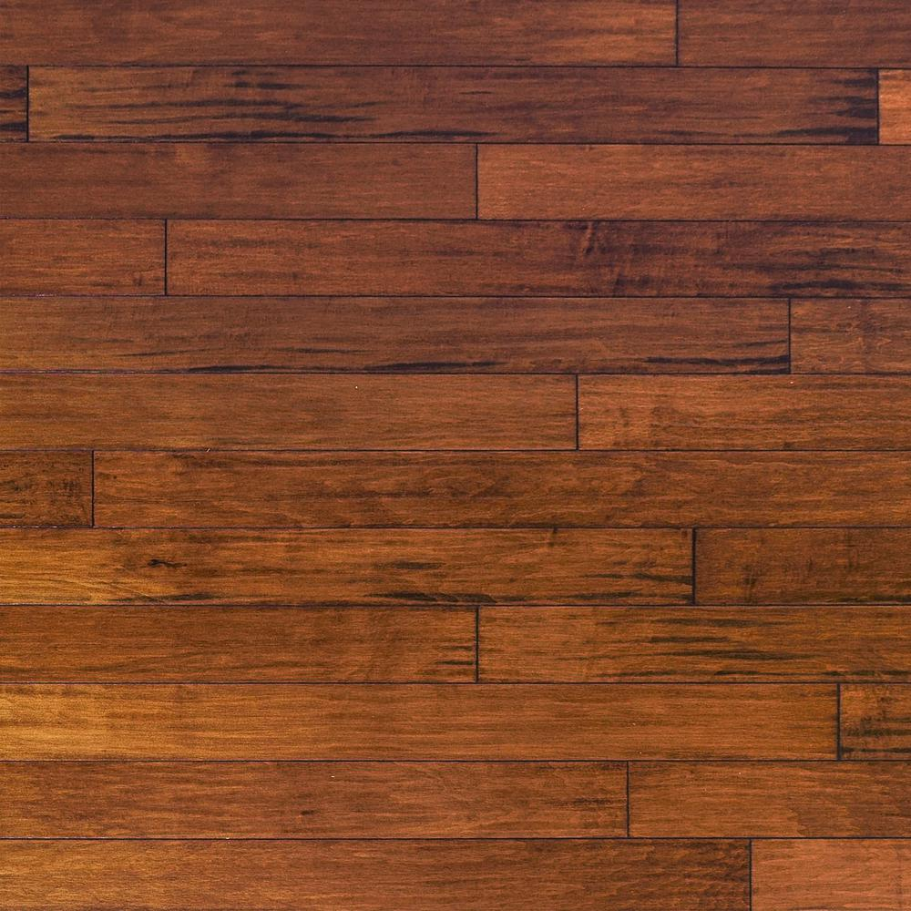 Millstead Hand Scraped Maple Spice 3/4 in. Thick x 5 in. Wide x Random Length Solid Hardwood Flooring (23 sq. ft. / case)