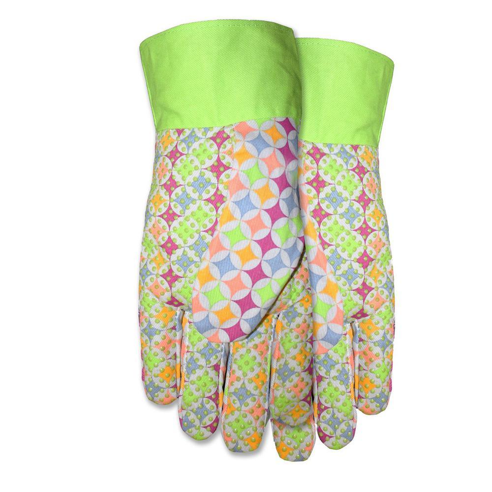 Ladies Canvas W/Dots Gloves