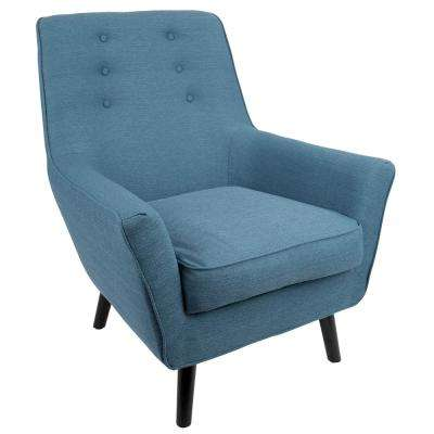 contemporary chairs for living room. Vail Mid Century Blue Modern Upholstered Arm Chair  Chairs Living Room Furniture The Home Depot