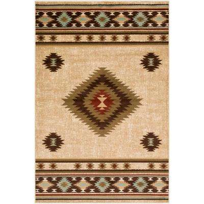 Sora Khaki 8 ft. 10 in. x 12 ft. 9 in. Native American Area Rug