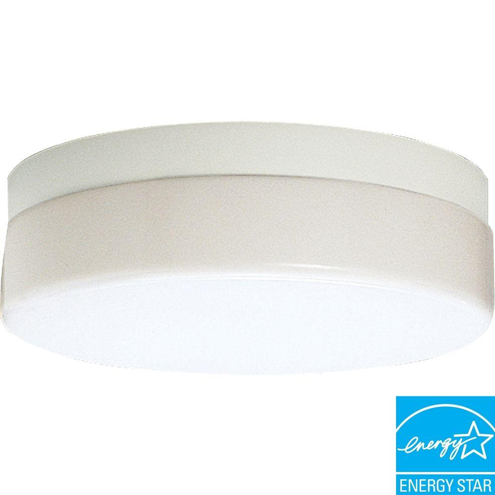 Progress Lighting Hard-Nox Collection 2-Light Outdoor White Flushmount