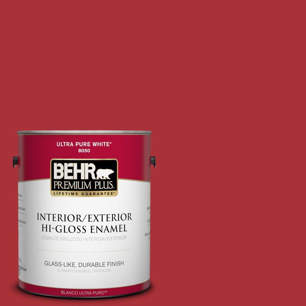 BEHR Premium Plus 1-gal. #S-G-160 California Poppy Hi-Gloss Enamel Interior/Exterior Paint
