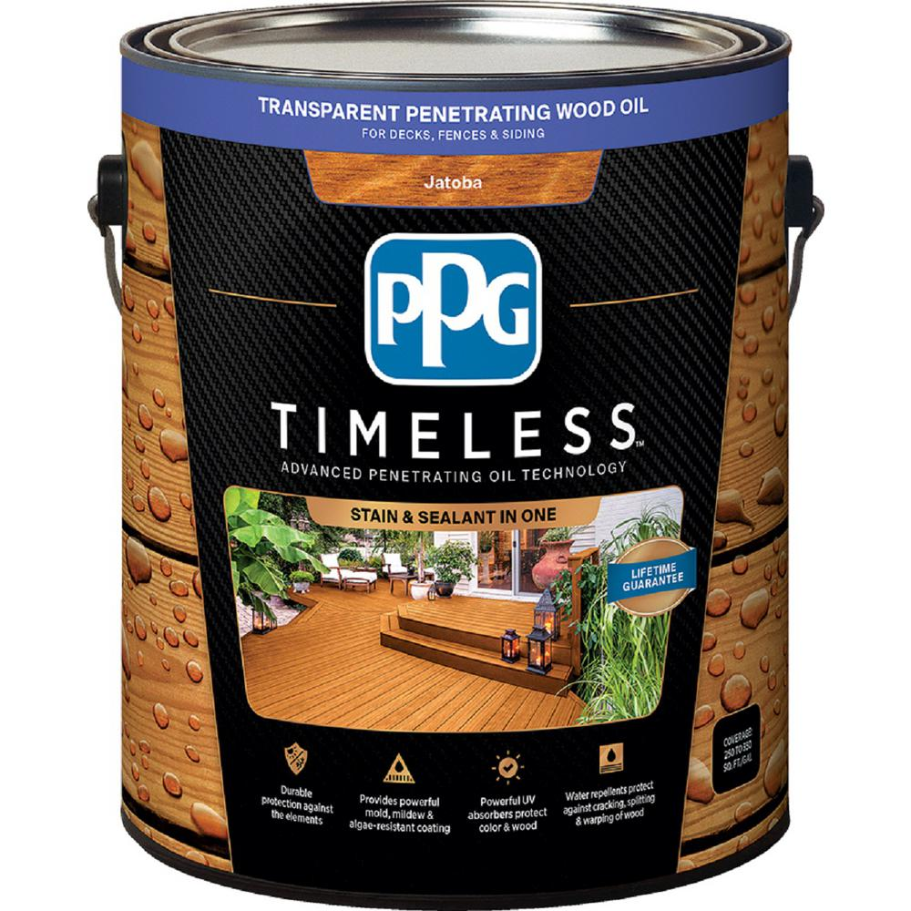 PPG TIMELESS 1 gal. TPO-8 Jatoba Transparent Penetrating Wood Oil Exterior Stain Low VOC
