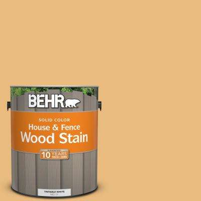 1 gal. #310D-4 Gold Buff Solid Color House and Fence Exterior Wood Stain