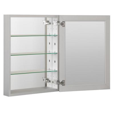 23 in. x 30 in. Recessed or Surface Frameless 1-Door Medicine Cabinet with 3-Adjustable Shelves