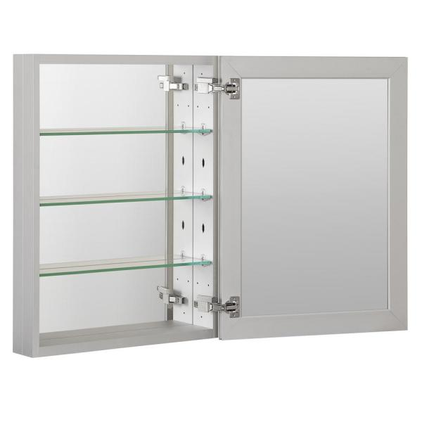 Boyel Living 23 In X 30 In Recessed Or Surface Frameless 1 Door Medicine Cabinet With 3 Adjustable Shelves Kfmmc2330 Sa The Home Depot