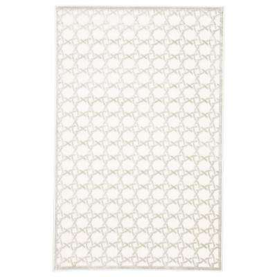 Fables Cream 8 ft. 10 in. x 11 ft. 9 in. Trellis Rectangle Rug