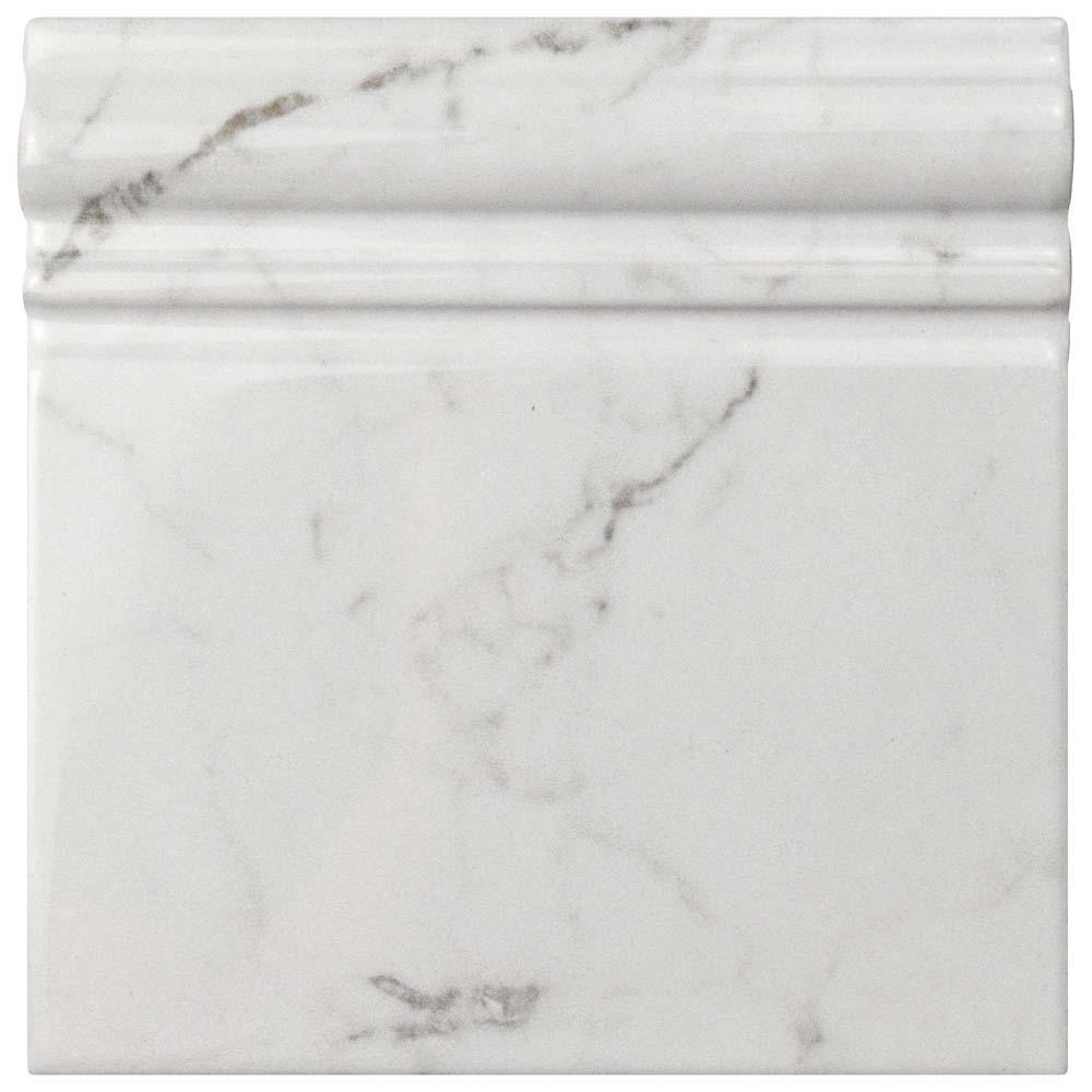 Clico Carrara Glossy Skirting Base