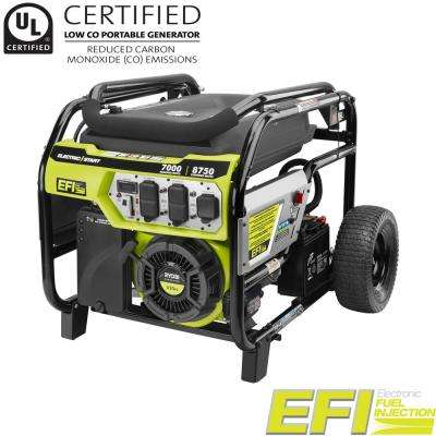 7000-Watt Electronic Fuel Injected (EFI) Gasoline Powered Electric Start Portable Generator with CO Shutdown Sensor