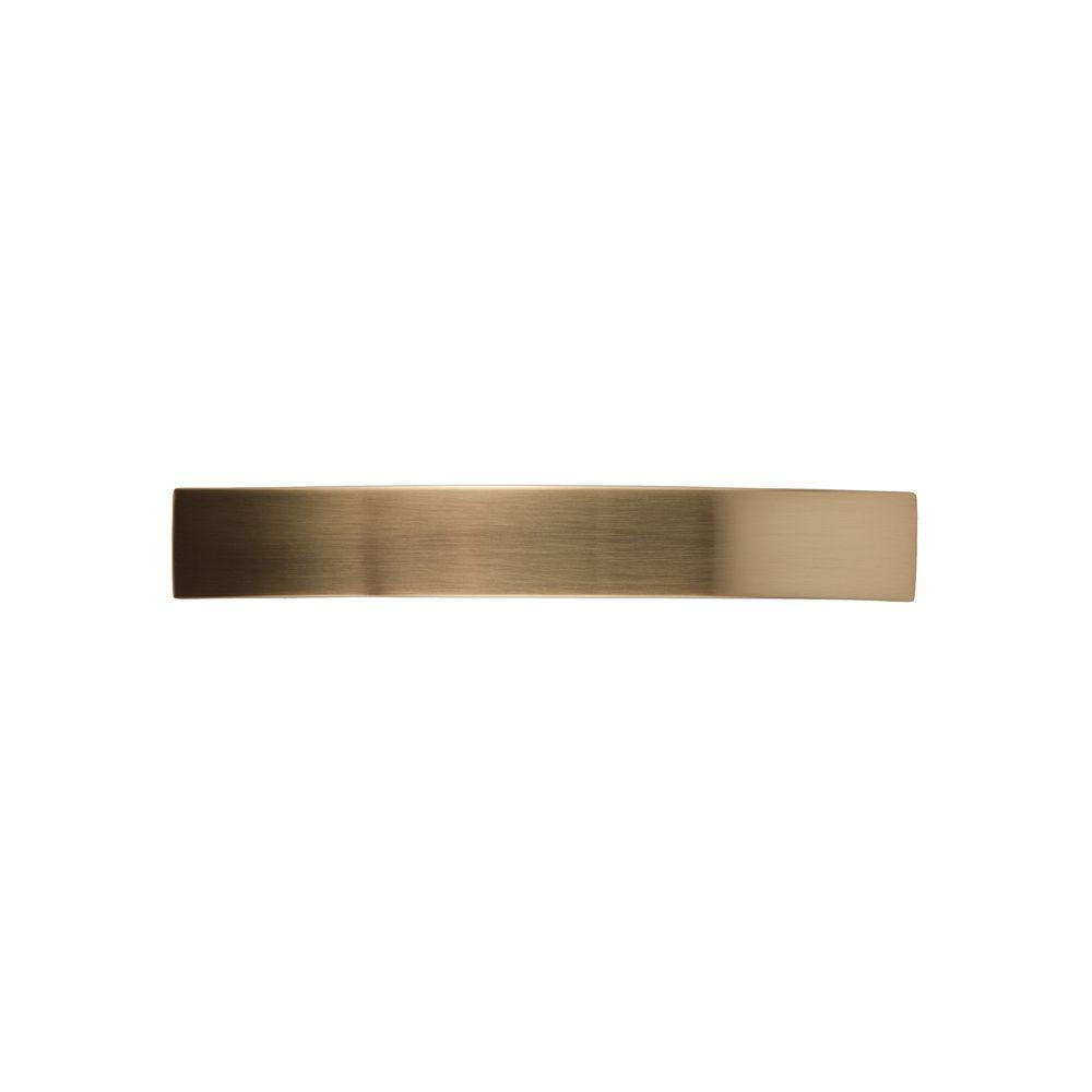 Continental Home Hardware 4 in. Center-to-Center Satin Brass Pull