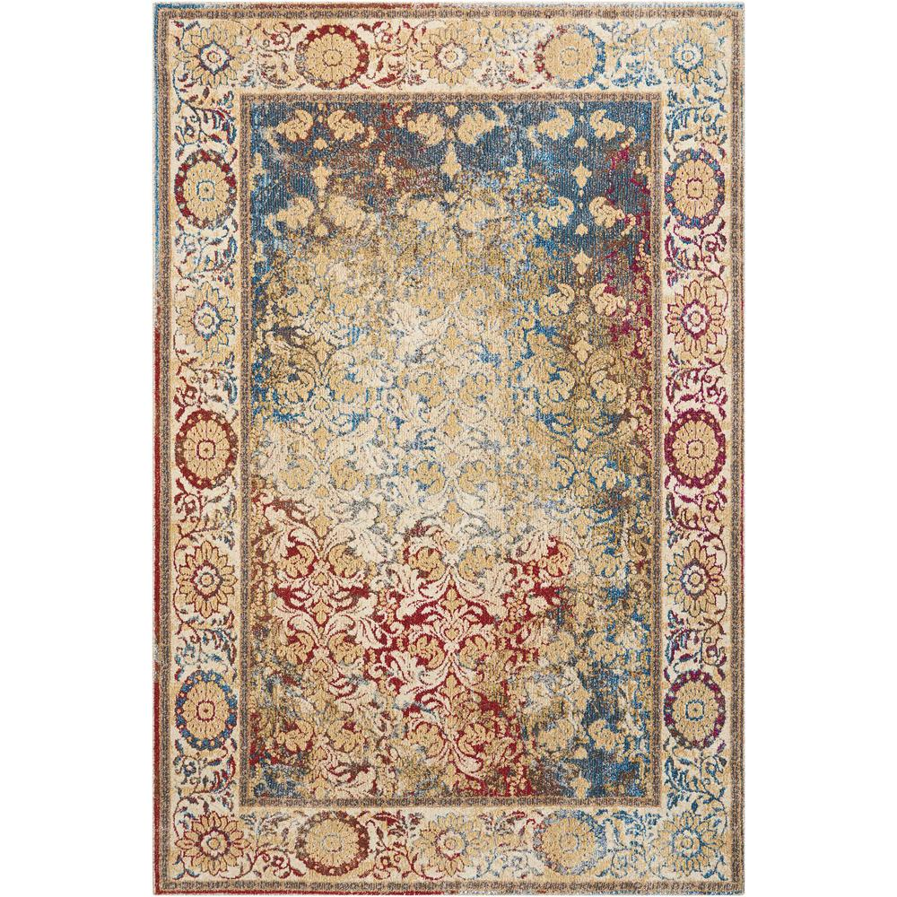 Nourison Cordoba Multicolor 4 Ft X 6 Ft Area Rug 389237