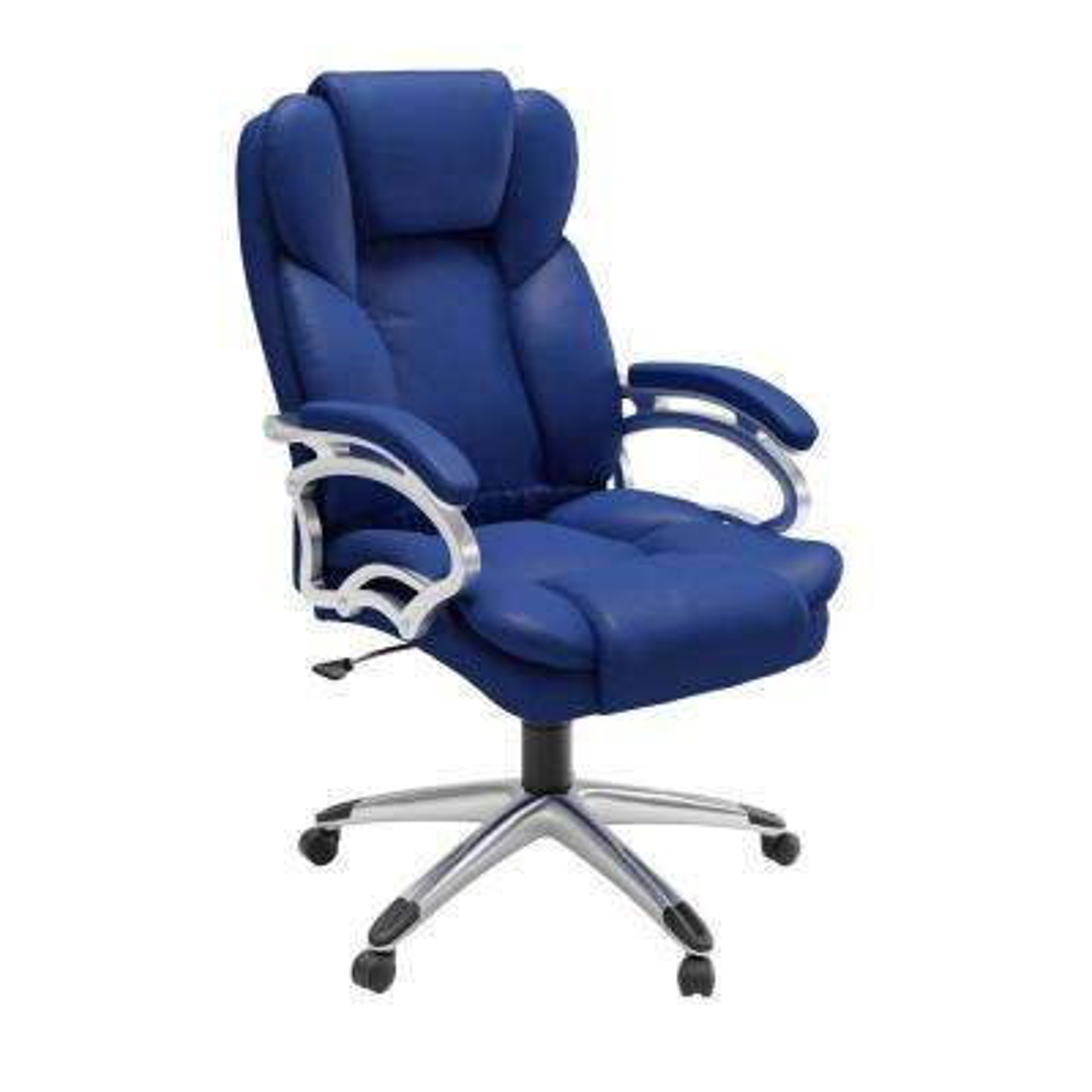 Cobalt Blue Leatherette Workspace Executive Office Chair