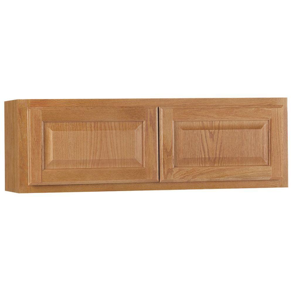 Medium Oak Kitchen: Hampton Bay Hampton Assembled 36x12x12 In. Wall Bridge