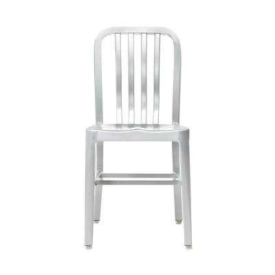 Sandra Brushed Aluminum Side Chairs (Set of 2)