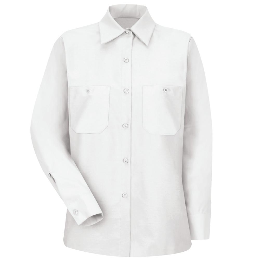 ace74bcb Red Kap Women's Size L White Industrial Work Shirt-SP13WH RG L - The ...