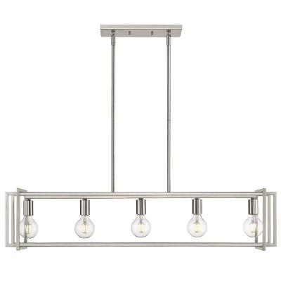 Tribeca 5-Light Pewter with Pewter Accents Linear Pendant