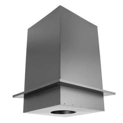 DuraPlus 6 in. Square Ceiling Support Box and Trim Collar - 11 in. Tall