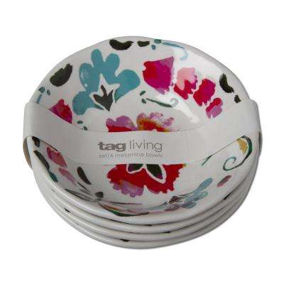 Eden Multicolor Melamine Bowl (Set of 4)