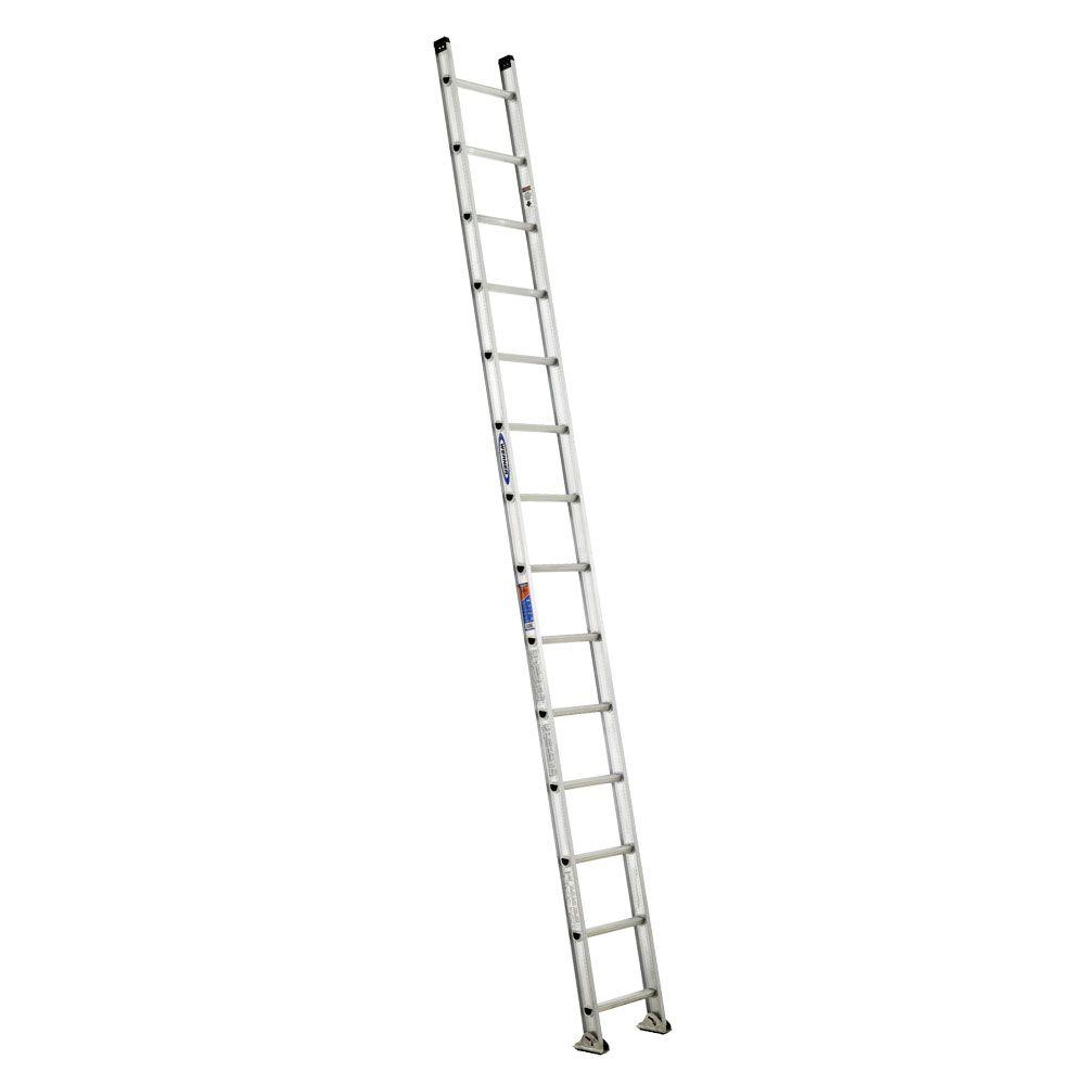 14 ft. Aluminum D-Rung Straight Ladder with 300 lb. Load Capacity
