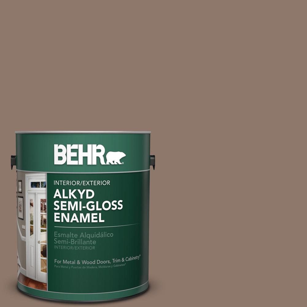 1 gal. #N170-5 Chocolate Heart Semi-Gloss Enamel Alkyd Interior/Exterior Paint