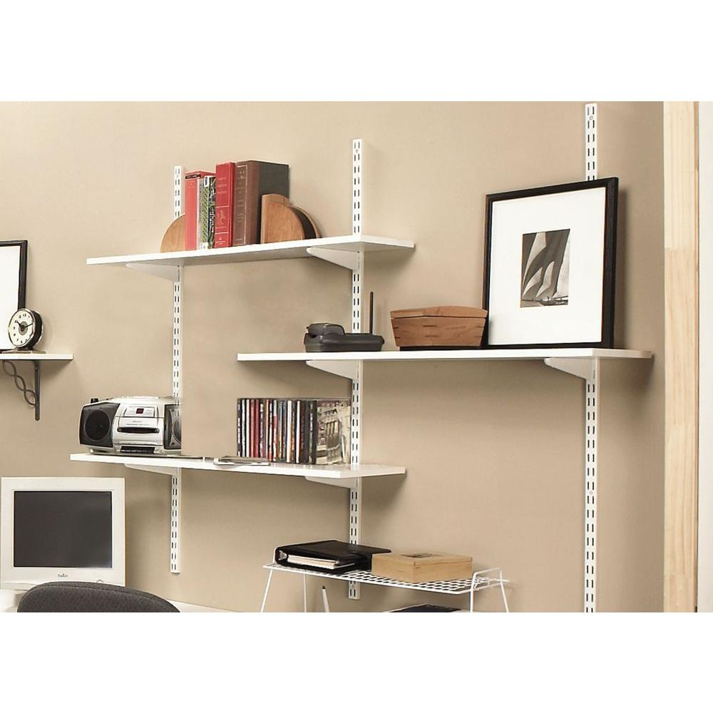 Rubbermaid 12 In X 72 White Laminated Wood Shelf