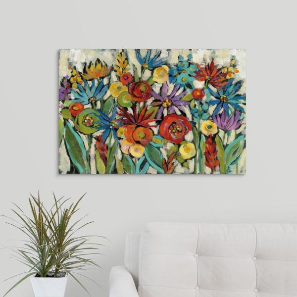 GreatBigCanvas ''Confetti Floral I'' by Silvia Vassileva Canvas Wall Art