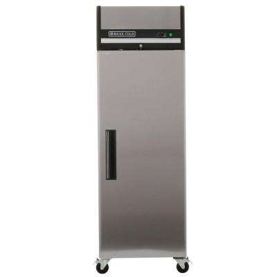 X-Series 23 cu. ft. Single Door Commercial Reach In Upright Refrigerator in Stainless Steel